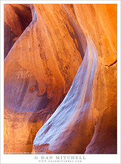 Sculpted Sandstone (G Dan Mitchell) Tags: sky light blue sandstone slot canyon curving rock sculpted utah nature landscape southwest usa north america gsenm stone reflected