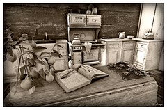 Kitchen (Loegan Magic) Tags: secondlife kitchen plant cookies counter stove blackandwhite