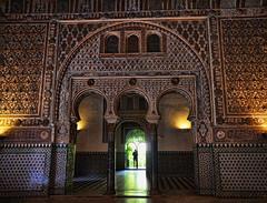 Inside the mysterious Alcázar of Seville Spain (Gail K E) Tags: spain españa seville sevilla andalucia royalalcazarofseville architecture mudejar palace fortress