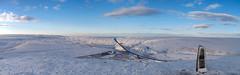 Standedge Cutting after snowfall from Pule Hill summit. 3 frame panorama. (kyliepics) Tags: olympus e520 evolt520 olympuszuikodigital1122mmf2835 srbpsizend031stopgradfilter darktable hugin addedtogroups