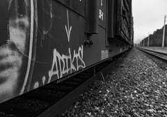(o texano) Tags: houston texas graffiti trains freights bench benching a2m adikts