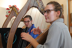 2 of Harps 1589 (Tony Withers photography) Tags: musicians harpists duo adel karina wilson music