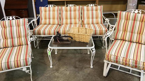 Iron Patio Set with cushions ($476.00)