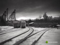 North Bennington Rail Yards (john bulmer) Tags: blackandwhite buskirk newyork bennington vermont travel contrast johnbulmerphotography