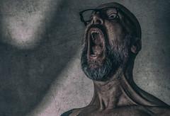 my scream (an ode to Munch) (Gerrit-Jan Visser) Tags: bewerkt portrait scream edgar munch cry color ode fear anger emotion shadow