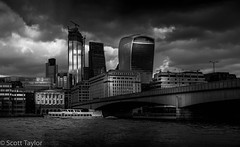 London Bridge & The City (Scrufftie) Tags: style mono fujifilmxh1 photoshop london cityoflondon panorama panostitch fujinonxf1855mm blackwhite cityscape bw handheld lightroom fuji