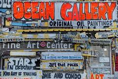 Now accepting Visa and Mastercard.... (Joe Hengel) Tags: nowacceptingvisaandmastercard oceancity oceancitymd oc ocmd maryland oceangallery sign signs words boardwalk