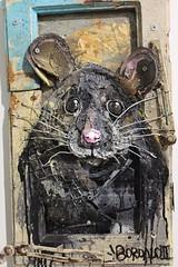 Bordalo II_0904 galerie Mathgoth Paris 13 (meuh1246) Tags: streetart paris bordaloii galeriemathgoth paris13 accorddeparis animaux rat