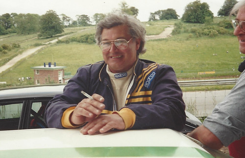 Peter Dalley pre race at Cadwell 1993