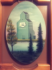 Alberta Wheat Pool (Mr. Happy Face - Peace :)) Tags: art2019 painting elevator grain architecture flickrfriends candy treemendoustuesday drawing framing strathmore alberta canada pioneer albertawheatpool oils historic site