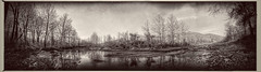 Low River Panoramic # 2 (DRCPhoto) Tags: hipstamatic snapseed iphone iphoneography panoramic cheatriver westvirginia