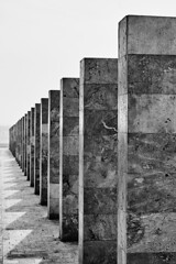 Marble Columns (George Tzanis) Tags: marble columns thessaloniki macedonia greece whitetower coast beach sea sky black white bw blackandwhite blackwhite mono monochrome architecture sculpture urban city sony sonya7ii sonyfe2870mmf3556oss ilce7m2 a7ii a7m2 art sel2870 geometry
