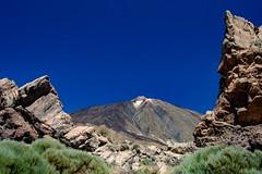 Mount Teide (López Pablo) Tags: teide national park rock bush green sky blue lava red tenerife canary islands spain nikon d7200 nature