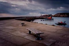 Digue Sainte-Barbe (clos du pontic) Tags: port leconquet finistère bretagne mer digue quai bateau phare rochers ciel iroise