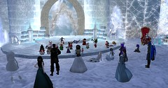 A Fae Xmas on Ice (Osiris LeShelle) Tags: secondlife second life avilion heart medieval fantasy roleplay fae xmas christmas ice party dance w00tmas tiny tinies carolers caroling tradition visit