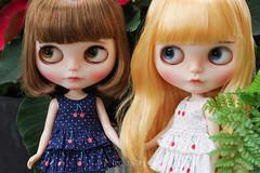 Cherry Top (Ylang Garden) Tags: blythe momoko top cherry pant jean denim ruffle