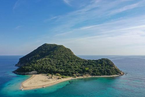 Insel Marathonisi Zakynthos, Griechenland Luftbild