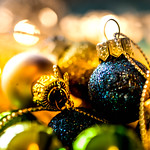 Holiday Bokeh - Miniature Christmas Ornament thumbnail