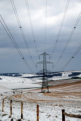 March of the Pylons (Worthing Wanderer) Tags: southdowns southdownsway sussex westsussex snow cloudy arctic march winter beastfromtheeast