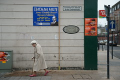 Walk On By (Timm Ranson) Tags: streetphotography socialdocumentary photography ireland derry timmranson people woman walking city street