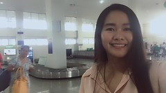 Mom at Iloilo airport (ghostgirl_Annver) Tags: mom asia asian girl teen beautiful airport luggage baggage selfie portrait family