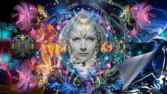 Mata Hari ~ What lies beneath... (PaulO Classic. ©) Tags: tt kreativepeople photoshop picmonkey garbo fractal