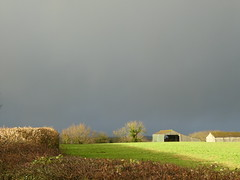 Just for a moment (ART NAHPRO) Tags: sunshine evening barn sussex rural farmland grey sky weather january 2019