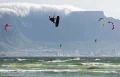 (Rob Millenaar) Tags: southafrica capetown bloubergstrand dolphinbeach kitesurfing tablemountain