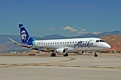 N186SY   Embraer Emb-175-200LR [17000606] (Alaska Skywest) Salt Lake City~N 27/07/2017 (raybarber2) Tags: 17000606 airliner alpechacollection cn17000606 flickr flickrdone kslc n186sy planebase usacivil