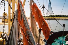 nets (ro_ha_becker) Tags: hooksiel kodakportra400 leicaiiia leitzsummaron2835mm meinfilmlab harbour hafen analogue film boot fishingboat boat shrimper