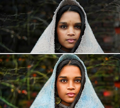 Before/After Indian Girl - Ben Heine Photography (Ben Heine) Tags: indiangirl benheinephotography photography portrait beforeafter indian girl ben heine