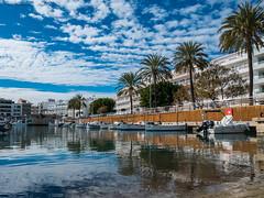 365-2019-02-10 (AGONZA) Tags: cielo nubes azul mar mediterráneo cala bona mallorca baleares ángel barcas palmeras color