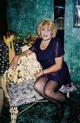 Was This Really Me? (Laurette Victoria) Tags: mini dress blonde laurette woman stockings purple