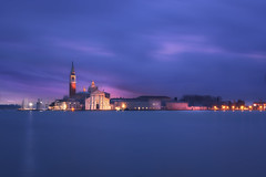 Venetian paths 148(San Giorgio Maggiore) (Maurizio Fecchio) Tags: venice venezia italia italy city cityscape lights morning sunrise longexposure clouds sky water famous church reflections blue blù travel tranquility nopeople nikon d7100