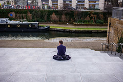On the Banks of Regent's Canal (Michael Goldrei (microsketch)) Tags: leicam england eu 35 35mm photos leica london st typ240 cross lone man steps photo regents sitting mp alone winter back leicacamera european asph uk february sit kings mp240 240 2019 photography canal street leicamtyp240 typ photographer feb summilux leicalovers februar europe 14 19