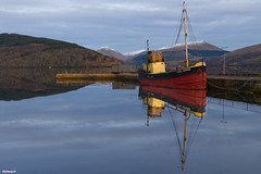 The Vital Spark (ALANSCOTT1) Tags: inveraray argyll scotland snow reflections art history literature comptonmckenzie vitalspark