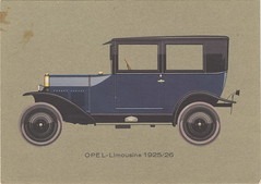Opel 4/14 PS 'Laubfrosch' Limousine 1925/26 (Zappadong) Tags: postcard postkarte opel 414 ps laubfrosch limousine 192526 zappadong