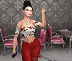 Makeover (Rose Sternberg) Tags: liz shape for genus bento project baby face head maitreya lara body second life event joplino doux andore mesh ears jariss nude lipstick packs hair style hairstyle access skin fair skinfair scandalize jazzie top pants heels collabor88 collabor 88 euphoric mishi eyes cosmopolitan reve obscura ty next pose with phone african