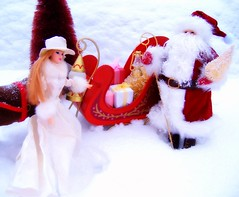 Father Christmas #5 (Bridget_John316) Tags: winter ride barbie mackie father christmas santa claus reindeer sled presents narnia