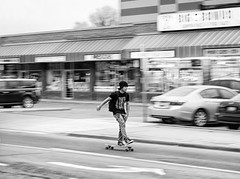 Melange Thaw (5-14) (Paul B0udreau) Tags: canada ontario paulboudreauphotography niagara d5100 nikon nikond5100 skateboarder panning bw hamilton nikkor50mm18 photoshop layer teenager