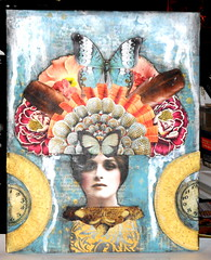 For Marsha G-8x10 (LLarkin3509) Tags: collage zetti paper mixedmediacollage woman floral butterfly paint
