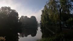 Clearing Fog (Peter ( phonepics only) Eijkman) Tags: zaandam zaanstad zaan zaanstreekwaterland nederland netherlands water grachten gracht canals nederlandse noordholland holland