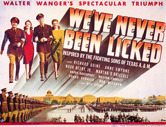 """Promotional materials for """"We've Never Been LIcked"""" 18.jpg (buddymedbery) Tags: years unitedstates worldwarii collegestation 1943 1940s texas"""