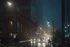 Chicago City Fog (Jovan Jimenez) Tags: sony alpha a6500 nikon seriese 100mm f28 chicago city fog night mist car lights cityscape urban vintagelens manuallens oldlens cinematic streetphotography ais classiclens classiclenses