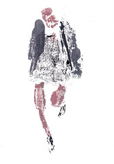 Femme en marche [20190302] (rodneyvdb) Tags: art contemporary drawing expression expressionism fashion femme illustration ink model monotype paris vogue woman
