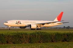 JA710J, Boeing 777-246(ER), JAL Japan Airlines gaining speed on rwy 36L, in nice fading autumn sunlight (Freek Blokzijl) Tags: ja710j boeing boeing777 777200er japanairlines departure vertrek polderbaan sunset eveninglight runway rwy36l eham widebody ams amsterdamairport schiphol planespotting vliegtuigspotten spottinglocation nazomer canon eos40d 70200l28isusm zomer