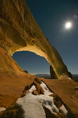 Wilson Arch, Utah, United States (christopherhawkinsimages.com) Tags: canyon arch canyonlands landscape nature night moon winter