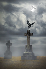 Spooky (Joe P Regan) Tags: spooky graveyard crow mist fog clouds dramatic eerie haunting halloween fineart photoshop composite manipulation