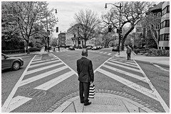 2019/101: Which Way? (Rex Block) Tags: nikon d750 dslr 1835mm washington dc dupont dupontcircle newhampshireave 18thstreet corner intersection crosswalk vee wye choice monochrome bw project365 365the2019edition 3652019 day101365 11apr19 ekkidee 2019101whichway