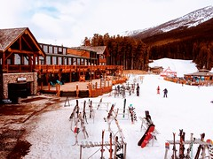 Weekend R & R (Mr. Happy Face - Peace :)) Tags: architecture timber log construction art2019 woodframe ski spring lakelouise rockies snow snowboarding textures flickrfriends strangers familyday timberframe